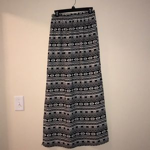 Francesca's black and white Aztec maxi skirt